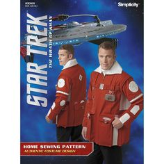 Recreate Admiral Kirk's field coat from Star Trek: The Wrath of Khan. Jacket features long collar and multiple pockets.