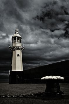 I love our wee lighthouse. It guides the fishermen home safely. (Mevagissey Lighthouse Cornwall by Mark Jacob, via 500px)