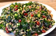 Pomegranate, Kale & Quinoa Salad Recipe - ElizabethRider.com