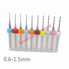 10 cái/bộ Cải Chất Lượng Cao Hợp Kim Cứng PCB In Circuit Board Carbide Micro Khoan Bit Tool 0.6 đến 1.5 mét cho SMT CNC