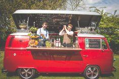 The Car Bar Mobile Bar Worcester, Worcestershire Food Trucks, Kombi Food Truck, Combi Vw T2, Vw T1, Volkswagen Bus, Catering Van, Wedding Catering, Food Truck Wedding, Bars Tiki