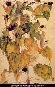 Sunflowers2 - Egon Schiele - www.egon-schiele.net