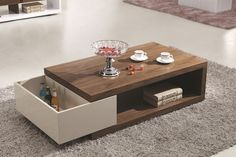 Cozy Tea Table Design Ideas That Looks Cool 35 Japanese Coffee Table, Coffee Table Books, Centre Table Living Room, Center Table, Table Furniture, Luxury Furniture, Furniture Design, Modern Centre Table Designs, Tea Table Design