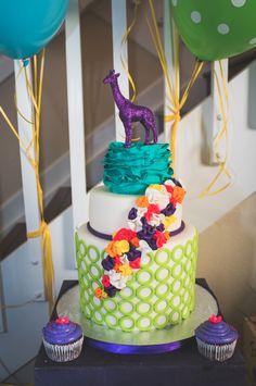 Wow! Awesome cake at a Modern Safari birthday party via Kara's Party Ideas KarasPartyIdeas.com