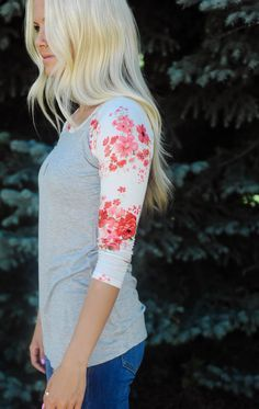 THESE WILL SELL OUT FAST!!! | Floral Raglan Top - 7 Colors!