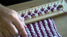 loom knit scarf - YouTube