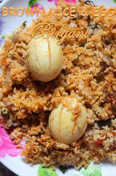 YUMMY TUMMY: Brown Rice Egg Biryani Recipe / Egg Dum Biryani Recipe