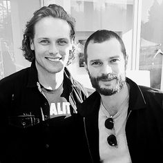 Sam Heughan and Jamie dornan united voices rally in LA february 24th 2017