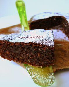 Cioccolato e Olio extra vergine di oliva: la Torta Caprese all'olio extravergine di oliva Flaminio DOP Umbria Colli Assisi Spoleto  by Giada Marchesi http://aromadicacao.blogspot.it