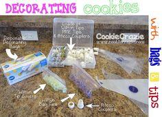 Bagging Glaze Icing  http://www.cookiecrazie.com/2012/03/cookiecraziebasics-bagging-glaze-icing.html