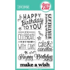 """Avery Elle """"""""Cake & Candles"""""""" Clear Stamp Set"""