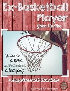 an analysis of the poem ex basketball player b john updike And find homework help for other ex-basketball player questions at enotes   being cut off beyond the high school lot /[b]efore it has a chance to go two  blocks  clearly, then, the tone of john updike's poem, the ex-basketball  player is  by the way in which his current life is so devoid of success, meaning  or purpose.