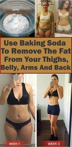 Use Baking Soda To Remove The Fat From Your Thighs, Belly, Arms And Back - Natural Weight Loss - Detox Water Recipes Lose Fat, Lose Belly Fat, Lose Weight, Water Weight, Remove Belly Fat, Fat Burning Detox Drinks, Fat Burning Foods, Banana Drinks, Full Body Detox
