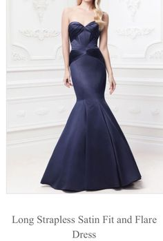 9e955b827d8 Truly Zac Posen long strapless satin fit and flare gown - saved by Chic n  Cheap Living