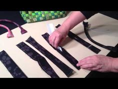 How to make bag handles with plastic tubing – video – Sew Modern Bags
