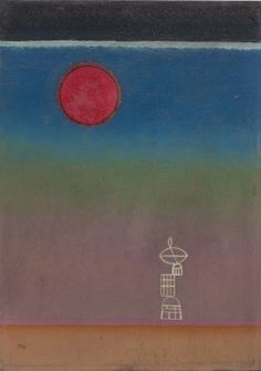 Vasily Kandinsky, Far Away, November 1930. Oil on board, 13 5/8 x 9 5/8 inches (34.6 x 24.4 cm)