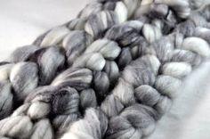 Platinum  Silky Cashmerino Spinning Fiber by pepperpants on Etsy, $18.00