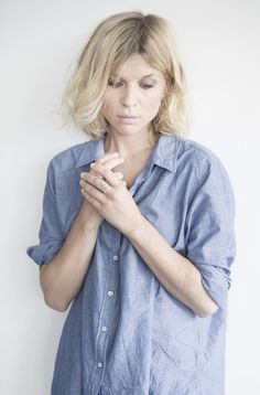 slouchy button down + bedhead // periwinkle blue