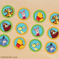 FREE Printable Winnie the Pooh Cupcake Toppers