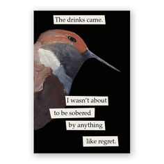 Hey, I found this really awesome Etsy listing at https://www.etsy.com/listing/75697804/regret-bird-magnet