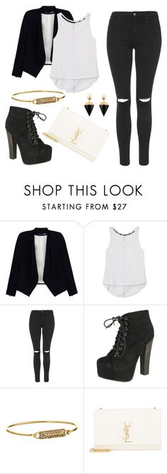 """""""Untitled #657"""" by bianca13-i ❤ liked on Polyvore featuring Alice + Olivia, Rebecca Minkoff, Topshop, Breckelle's, Yves Saint Laurent and Vita Fede"""