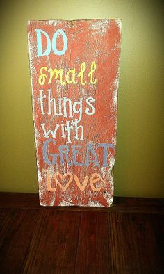 Large Barnwood sign Do small things with by ButtonsandBranches, $30.00