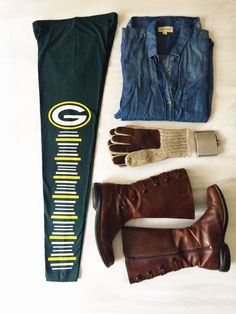 Green Bay Packers Women's Green Leggings by TheSweatLifeShop