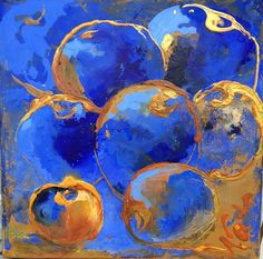blue apples by WattsNata on Etsy