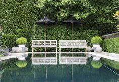 Anouska Hempel Design - Liechtenstein Beautifully balanced contemporary garden with classical styling. Pinned to Garden Design by Darin Bradbury.