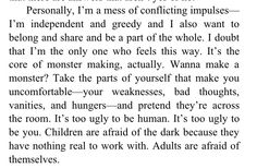 Richard Siken - Black Telephone  'Children are afraid of the dark ... adults are afraid of themselves.'