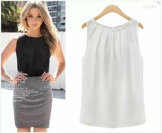 96a9c650483b1d Fashionable Top Sky Clothing, Tank Top Shirt, Tank Tops, Chiffon Tops, Sheer