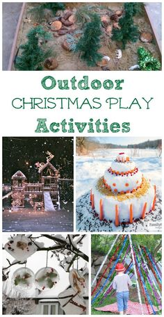 Outdoor nature activities the kids will enjoy for Christmas -- love these fun crafts & play ideas for the holidays!