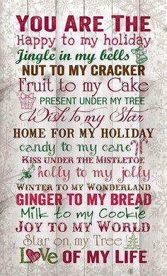 You are the Christmas Wall Decor