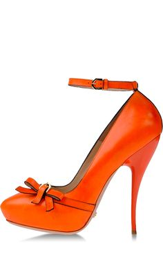 Would love these (no doubt Girlfriendology orange inspired!) shoes by Viktor & Rolf