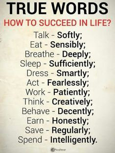 Success Quotes How to Succeed in Life True Words talk softly, eat sensibly, breathe deeply, sleep sufficiently, dress smartly Wisdom Quotes, True Quotes, Words Quotes, Quotes To Live By, Famous Life Quotes, Daily Quotes, Rest Quotes, Spiritual Quotes, Inspirational Quotes About Success