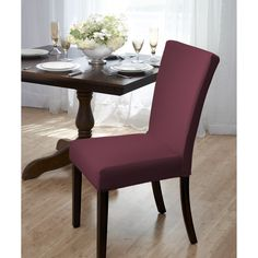 Give Your Parsons Chairs A Makeover With Subway Knit Jacquard Dining Room Chair Cover