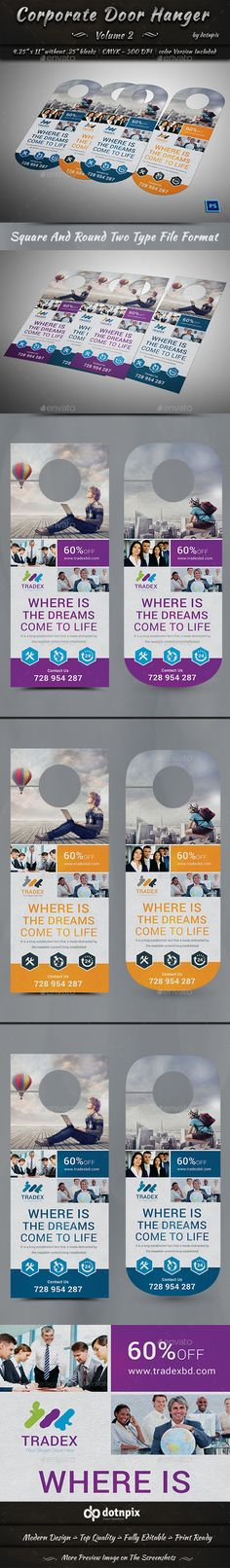 Awesome Door Hanger Designs for Your Next Marketing Campaign - promotional door hanger template