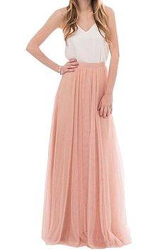 Honey Qiao Women's Maxi High Waist Skirts Blush Tulle Hol... https://www.amazon.com/dp/B01MQWQK2G/ref=cm_sw_r_pi_dp_x_psK.ybHWBDFEQ