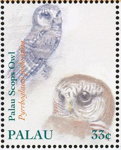 Palau Owl stamps - mainly images - gallery format