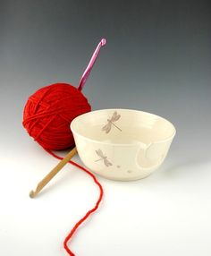 Dragonfly Yarn Bowl by dreadfulpines on Etsy, $25.00