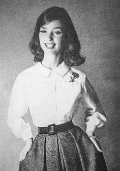 1950s peter pan collar blouse and full skirt combo
