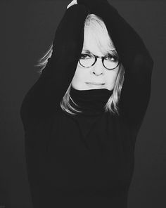 Diane Keaton has amazing style always but when she wears black she continues to take my breath away.