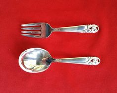 Spring Glory by International Sterling Silver 2 Piece Baby Fork and Spoon Set #InternationalSilver