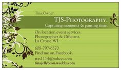 TJS Photography.  https://www.facebook.com/pages/TJS-Photography/138635779594592  Wedding package & more,being offered.  Become a fan,to not miss out on any specials or collaboration projects,with needed businesses.  Visit the note section,for more information:  https://www.facebook.com/pages/TJS-Photography/138635779594592?id=138635779594592=notes  If you have any questions,please contact me.  Thank you,Tina