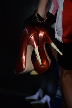#JeanPaulGaultier #ss15 #PFW #backstage #CollezioniDonna #shoes