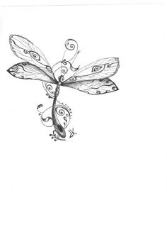 Irish Dragonfly Tattoo Design photo - 1 More