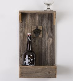 Reclaimed Wood Shelf With Bottle Opener by Del Hutson on Scoutmob Shoppe