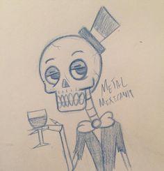 A quick and messy doodle of a classy skeleton #art #artist #doodle #sketch #sketchbook #draw #drawing #illustrate #illustration #illustrator #character #characterdesign #design #skull #skeleton #bones #demon #devil #suitandtie #wine #winetasting #suit #monster #creature #pencil #artsy #artwork #arts #classy #evil by metalmexican19