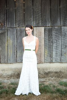 lace wedding gown by Jim Hjelm