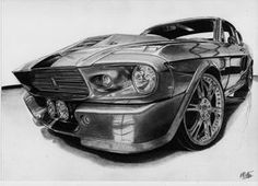 Shelby GT500 Eleanor drawing by alainmi on DeviantArt